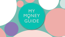 my money guide in bunten bubbles